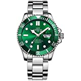 Luxury Men Automatic Mechanical Watches Luminous Classic Rotatable Bezel Stainless Steel Diving Watch