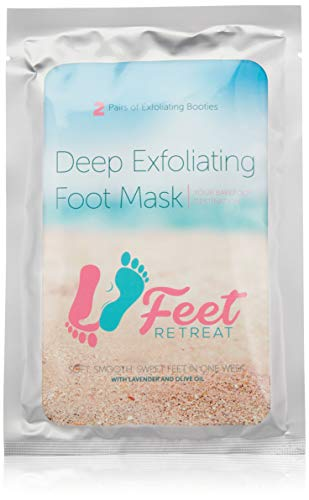 Feet Retreat - Lavender Exfoliating Foot Peeling Mask - 2 Pairs of Booties to Repair Dead Skin and Remove Calluses for Men and Women - Soft, Smooth, Baby Soft Feet in 1 Week