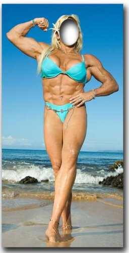 Muscle Woman Stand In - Stand In Lifesize Cardboard Cutout / Standee / -