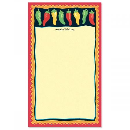 Chili Peppers Notepad- 50 Sheet Custom Memo Pad
