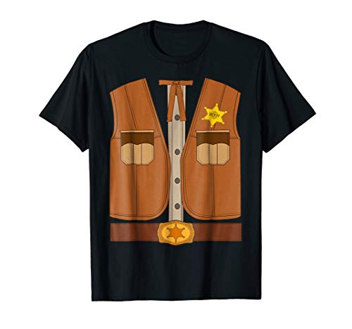 Western Sheriff Halloween Costume Shirt Wild West