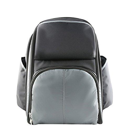 larsuyar multifunción bolsa de viaje mochila–Bolso para pañales con cambiador verde verde gris