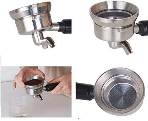 51mm Embudo dosificador de caf/é expreso de 51//53//58 mm anillo dosificador de caf/é de aluminio con reemplazo magn/ético para portafiltro de m/áquina de caf/é