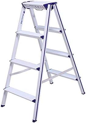 Yuhao Taburete, Escalera Plegable de aleación de Aluminio, Escalera pequeña, Escalera Gruesa, Taburete de Almacenamiento, 5: Amazon.es: Hogar