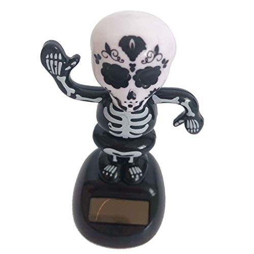 KODORIA Halloween Themed Solar Powered Toy Shaking Dancing Table Toy Halloween Trick or Treat Party Decorations - Skeleton Man (Dancing Skeleton Toy)
