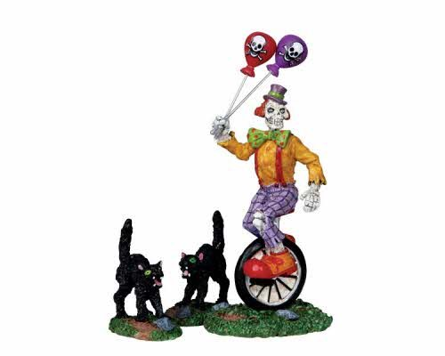 Lemax Spooky Town Halloween Ghoulish Clown, Set of 3 (Spooky Halloween Clowns)