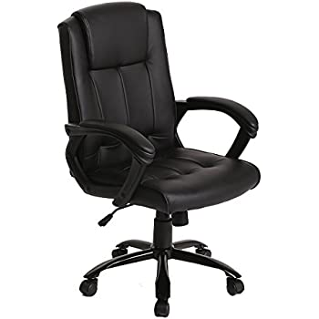 Captivating PU Leather Ergonomic Office Executive Computer Desk Task Office Chair