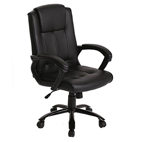 PU Leather Ergonomic Office Executive Computer Desk Task Office Chair by BestOffice