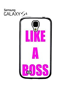 Like a Boss Meme Pink Fuschia Mobile Cell Phone Case Samsung Galaxy S4 White