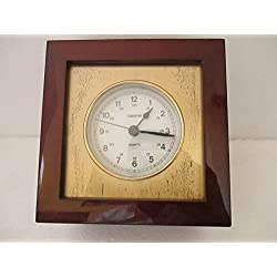 Atlantic Maritime-Vintage Marine Ship Brass Chronometer Quartz Clock Observer Made In England