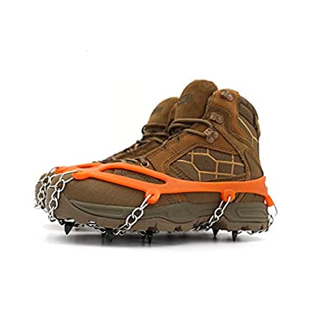 Anti Slip Traction Cleats 8//19 Spikes samyki Ice Cleats Crampons Ice/Crampons Snow Grips Quickly and Easily Grips Over Footwear Ice Grips Ice Grippers for Women//Men Durable Silicone Spike Shoes