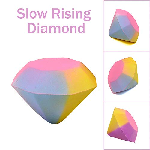 (Euone  Squishy Toy, Stress Reliever Colorful Diamond Scented Super Slow Rising Kids Toy Squeeze Gifts)