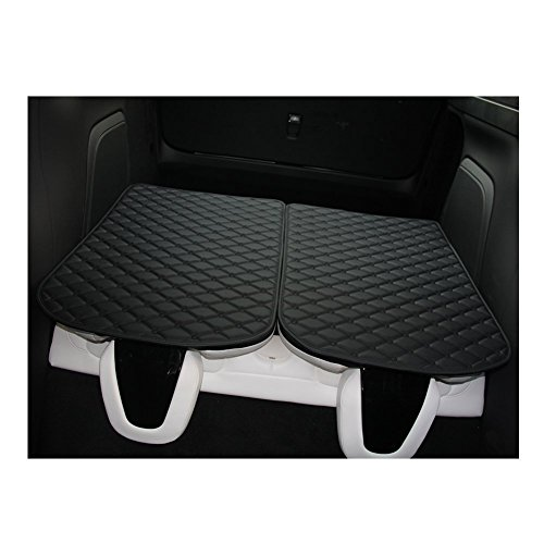 Topfit Front and Rear Trunk Mat and 3rd Row Seat Back Protector Mat For Tesla Model X 6 seat and 7 seat by Topfit (Image #1)