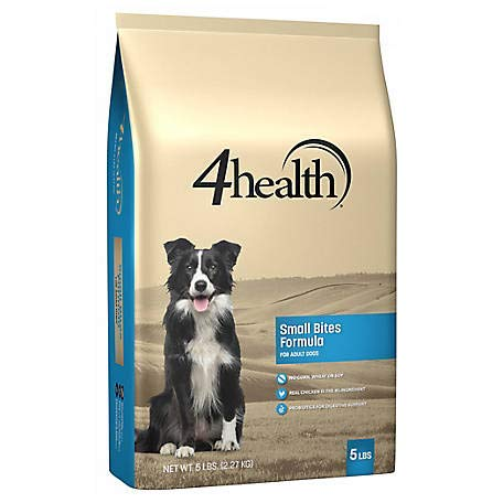 (4health Tractor Supply Company, Small Bites Formula, Adult Dog Food, Dry, 5 lb. Bag)