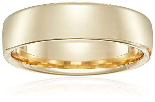 Modern Comfort-Fit 14K Yellow Gold Band, 6.5mm, Size 12