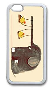 Apple Iphone 6 Case,WENJORS Adorable Elephant Swing Soft Case Protective Shell Cell Phone Cover For Apple Iphone 6 (4.7 Inch) - TPU White by lolosakes