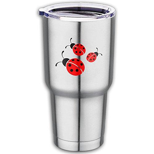 Ladybug Stainless Steel Vacuum Insulated Tumbler With Lid Coffee Cup Flask 18.7ounce (Ju Ju Ladybug)