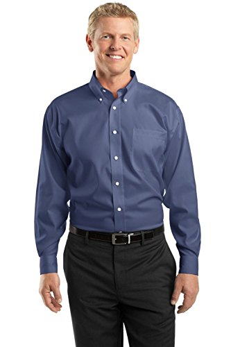 (Red House Men's Non Iron Pinpoint Oxford L Vintage Navy)