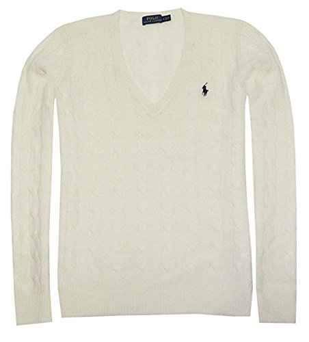 Polo Ralph Lauren Womens Merino Wool Sweater (M, Cream)