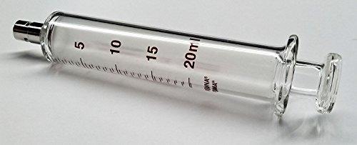 Glass Syringe, Metal Luer Lock, 20 mL