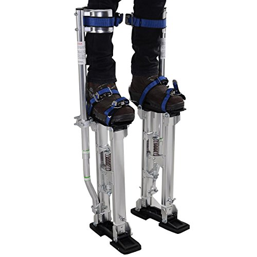 Alightup Aluminum Tool Stilts 24 to 40 inches Height Adjustable Drywall Stilt Lifts for Taping Painting Finishing Portable Lifting Tool Silver by Alightup (Image #1)