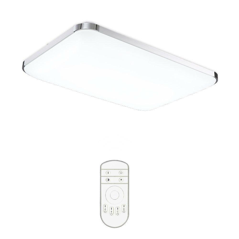 VINGO® 48w LED Panel Wand-Deckenleuchte Dimmbar Badleuchte Küchen Leuchte Lichtfarbe und Helligkeit einstellbar Modern