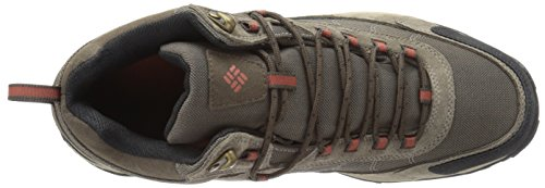 Columbia Men's Granite Ridge MID Waterproof Wide Hiking Shoe Mud, Rusty