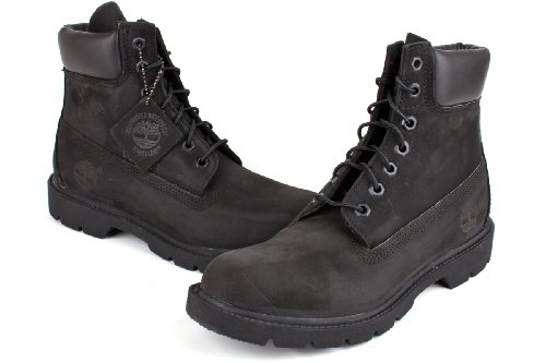 Timberland Mens 6-Inch Basic Waterproof Leather Boots Negro