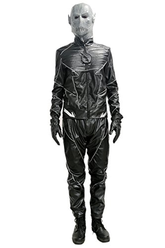 Zoom The Flash Costume (XCOSER Zoom Costume Outfits & Mask Props for Adult Halloween Villain Cosplay S)