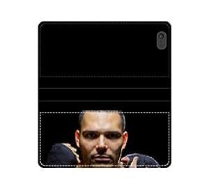 Portrait of a latino MMA Fighter con funda inmunohistoquímica hiperintensas con compartimento con tapa y compartimento para billetes iPhone 4 4S 5 5S 6 6S/Samsung S3 S4 S5