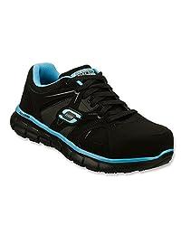 Skechers for Work Women's 76553 Synergy Sandlot Steel Toe Lace-Up Work Shoe
