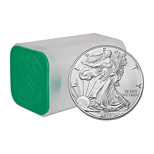 (2019 American Eagle 1oz Silver Bullion Roll, Tube, Lot of 20 Coins)