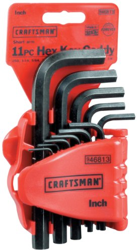 Craftsman 9-46813 Standard Short Arm Hex Key Set, 11-Piece (Craftsman Short Wrenches)