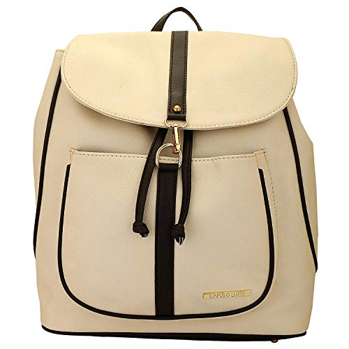 White D'Espagne with Blanc Satchel O Lapis bags Multi Pocket Designer Off Backpack Lupo Womens wPUHqqt0n