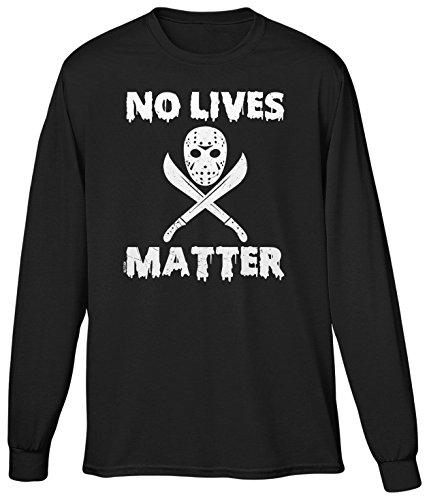 Blittzen Mens LS No Lives Matter - Jason Mask, XL, -