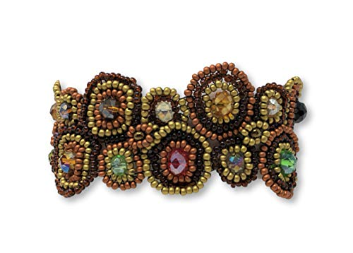 Mayan Arts Bracelets for Women, Handmade,Friendship Gift, Jewelry, Everyday Bracelet, Gold Multi-Color, Magnetic Clasp 1.25 x 7 Inches -