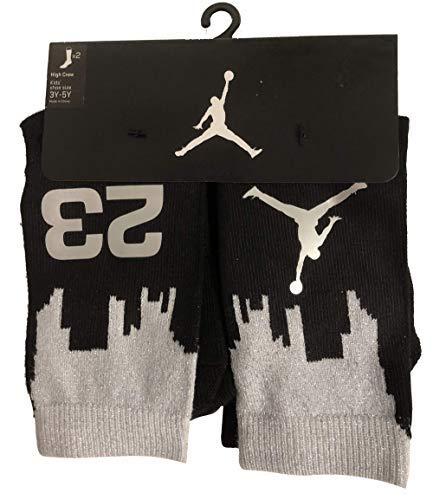 - NIKE Boy's Jordan Two-Tone 2-Pack High Crew Socks Size 3Y-5Y/7-9 (Sock Size)