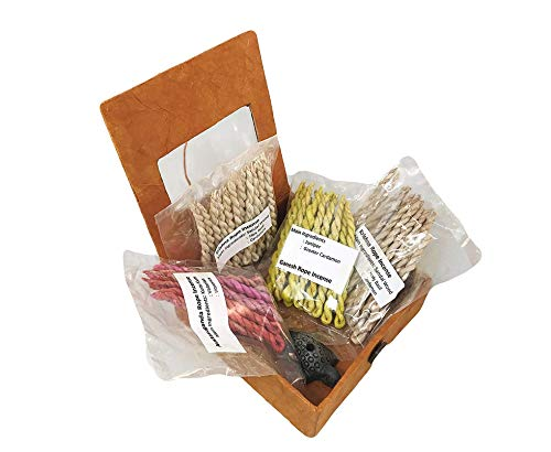 Stupa Incense Bundle Fair Trade Lokta Rope Incense from Tibet/Nepal - Used for offering, Worship and Meditation.