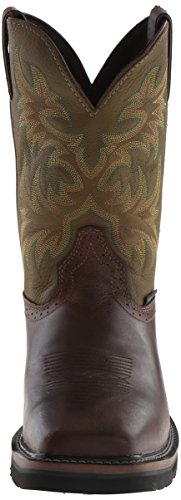 Original Brown Waxy Men's Stampede Cowhide Justin Boots Work Boot d0BdYgx
