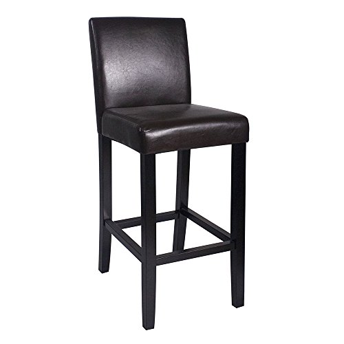 Set of 2 Kendall Contemporary Wood/Faux Leather Barstool - ()