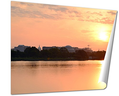 Ashley Giclee Fine Art Print, Sunrise Panoramic Photo Of Washington D C Skyline, 16x20, - Is Sunrise Where Mall