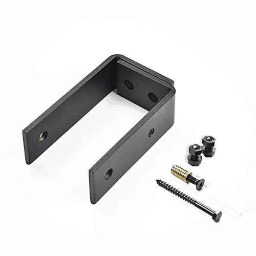 DIYHD 5ft Top Mount Bypass Double Sliding Wood Door Track Hardware Kit for Low Ceiling by DIYHD (Image #5)
