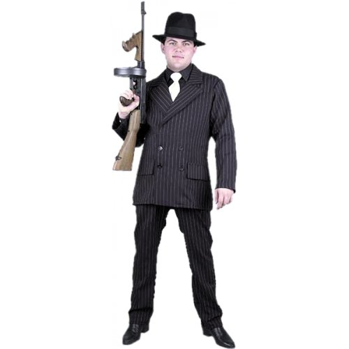 1920's Suit Costume (Gangster Adult Costume - Plus Size 3X)
