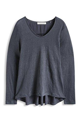 ESPRIT im Materialmix - Camiseta Grau (DARK GREY 020)