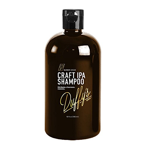 Duffy's Brew Premium IPA Craft Beer Shampoo - 12 fl oz. Sulfate, Paraben & Phthalate Free. 100% Vegan. Moisturizes, Nourishes, Seals, Protects & Color Safe ... (12 fl oz)