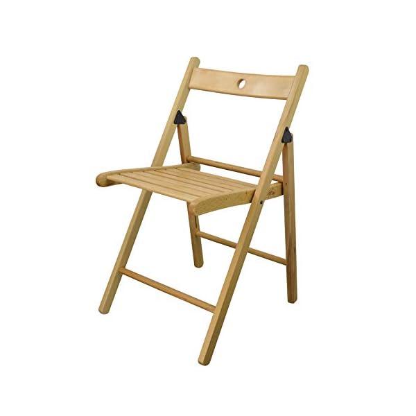 Chaises en bois pliantes – couleur bois naturel – lot de 4