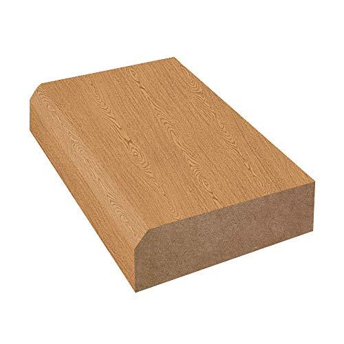 Bevel Edge Laminate Countertop Trim: Bannister Oak