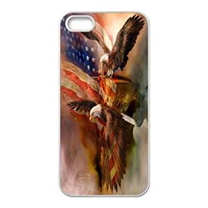 Bald Eagle on US American Flag For Apple Iphone 5 5S Cases GHLR-T377402
