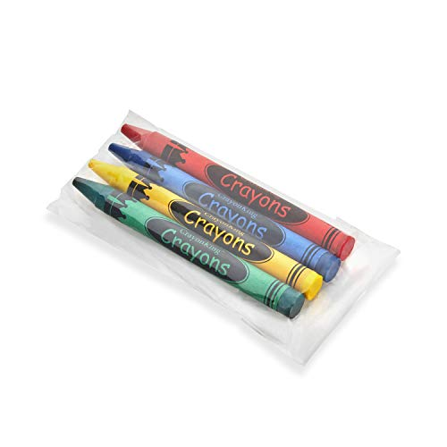 50 4-Packs of Crayons in Cello Bags by CrayonKing -