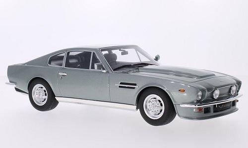 Aston Martin V8 Vantage, metallic-grau, RHD, Modellauto, Fertigmodell, GT Spirit 1:18
